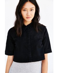 Courtshop Kate Cropped Button Down Shirt