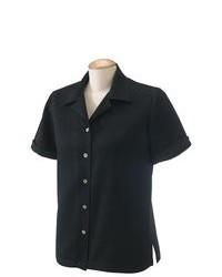 Devon Jones Short Sleeve Isla Button Down Camp Shirt D670w