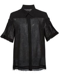 Pleated sleeve shirt medium 449723