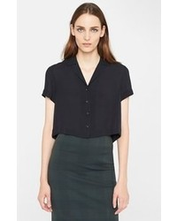 Rag and Bone Rag Bone Crop Silk Shirt