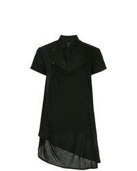 Y's Shortsleeved Asymmetric Fastening Shirt