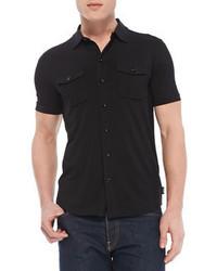 Black Short Sleeve Shirt