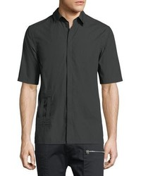Helmut Lang Bar Tab Short Sleeve Shirt