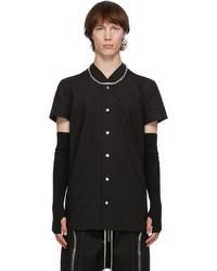 Rick Owens Black Cotton Golf Short Sleeve Shirt