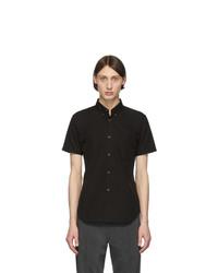 Comme Des Garcons SHIRT Black Cotton Poplin Short Sleeve Shirt