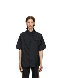 424 Black Jacquard Logo Shirt