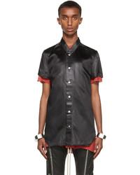 Rick Owens Black Liquid Golf Short Sleeve Shirt