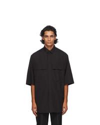 Fear of God Ermenegildo Zegna Black Matt Oversized Shirt