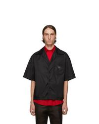 Prada Black Nylon Gabardine Shirt