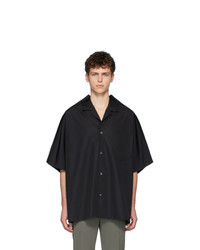 Maison Margiela Black Oversized Poplin Shirt