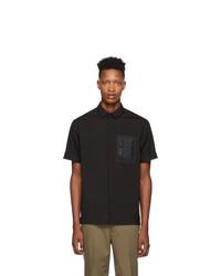 Neil Barrett Black Pocket Short Sleeve Shirt