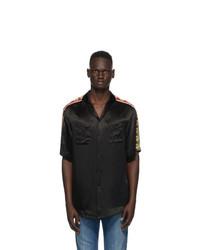 Gucci Black Satin Bowling Shirt