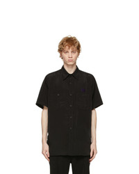 Needles Black Satin Work Shirt