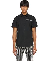 Moschino Black Symbols Logo Short Sleeve Shirt