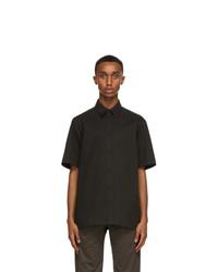 The Row Black Tomek Short Sleeve Shirt