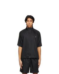 South2 West8 Black Zipped Trail Short Sleeve Shirt