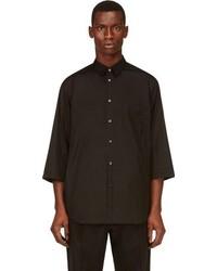 Comme des Garcons Comme Des Garons Shirt Black Oversized Cropped Sleeve Shirt