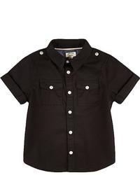 River Island Mini Boys Black Short Sleeve Shirt