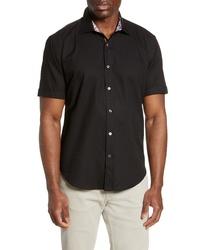 Bugatchi Shaped Fit Jacquard Shirt