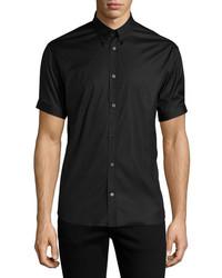 Alexander McQueen Short Sleeve Button Down Shirt Black