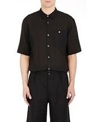 Margaret Howell Short Sleeve Shirt Black