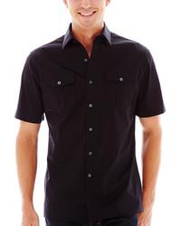 Claiborne Short Sleeve Stretch Poplin Shirt
