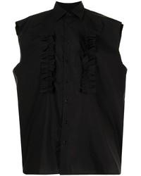 Raf Simons Sleeveless Ruffle Detail Shirt