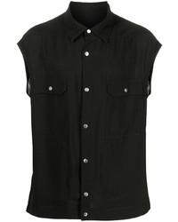 Rick Owens Sleeveless Snap Button Shirt