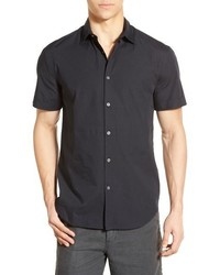 John Varvatos Star Usa Trim Fit Short Sleeve Sport Shirt
