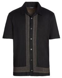 Ermenegildo Zegna Striped Buttoned Polo Shirt
