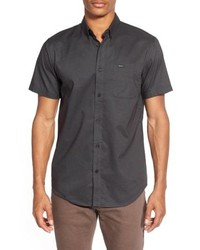 RVCA Thatll Do Slim Fit Short Sleeve Oxford Shirt