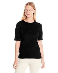 Alfred Dunner Missy Short Sleeve Sweater Shell