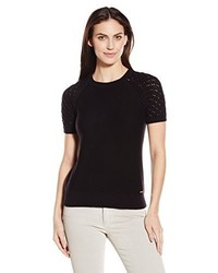 Calvin Klein Short Sleeve Sweater W Shoulder Detail