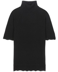 Valentino Cashmere Turtleneck Short Sleeve Sweater
