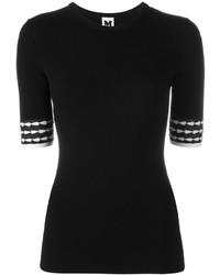 M Missoni Contrast Short Sleeve Sweater