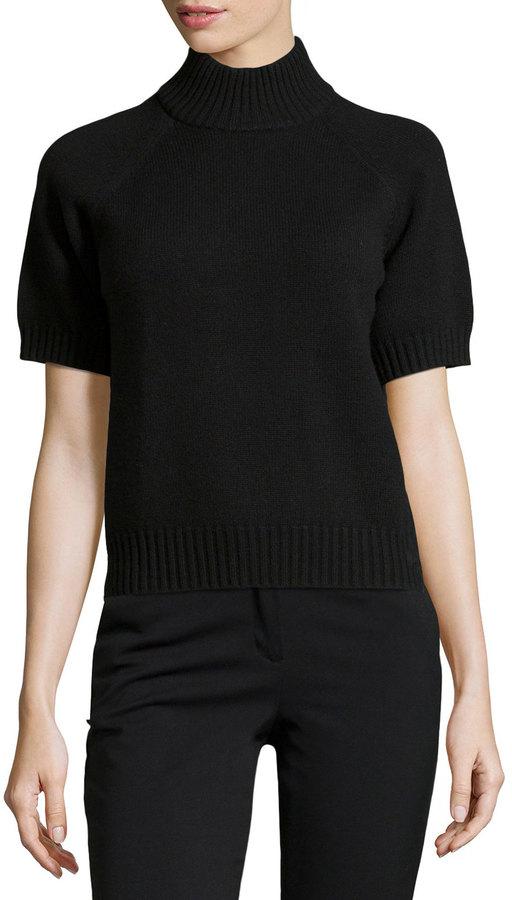 Michael Kors Michl Kors Mock Neck Short Sleeve Sweater Black Where