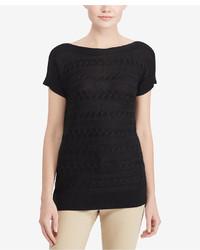 Lauren Ralph Lauren Petite Cable Short Sleeve Sweater