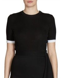 Givenchy Ribbed Short Sleeve Sweater