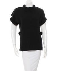 Burberry Short Sleeve Wool Sweater