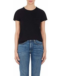 Barneys New York Silk Cashmere Short Sleeve Sweater