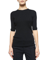 Vince Skinny Ribbed Short Sleeve Top