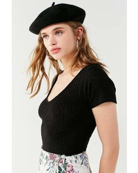 Urban Outfitters Uo Laurie Ribbed Knit Short Sleeve Sweater