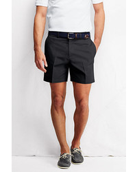Classic 6 Plain Front No Iron Chino Shorts Black33