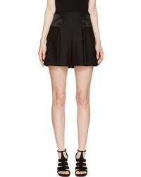 Alexander McQueen Black Suiting High Waisted Shorts