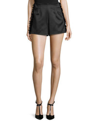Alexis Sandy High Waist Shorts Wfrayed Trim Black