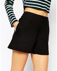 5781f0de493 ... Asos Collection High Waist Linen Shorts