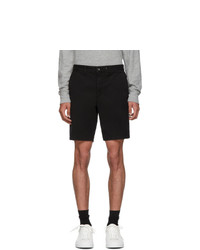 Rag and Bone Black Classic Fit 2 Chino Shorts