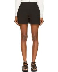 Carven Black Fancy Tweed High Waist Shorts
