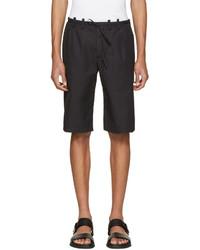 Maison Margiela Black Micro Gabardine Shorts