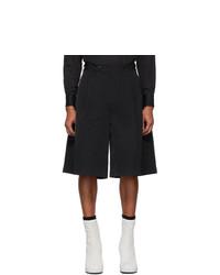Random Identities Black Oversized Tailored Shorts